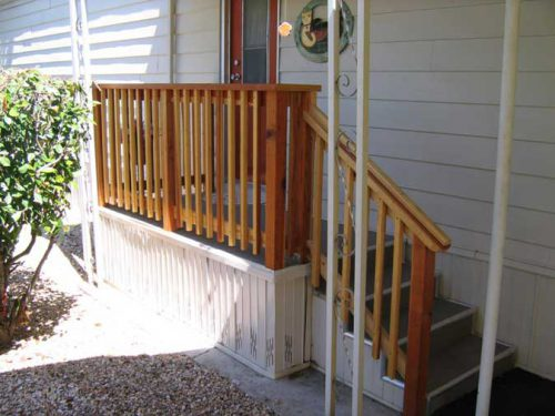 Above Are Custom Mobile Home Type Steps Which Can Built Site