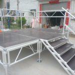 Aluminum Stage Portable Mobile Stairs Skymear
