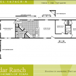 Back Gallery For Single Wide Mobile Home Floor Plans Bedroom