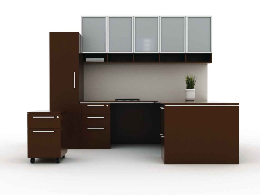 Black Executive Modular Furniture For Home Office Architect
