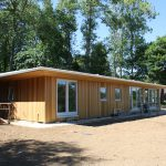 Cedar Clad Flat Roof Mobile Home Log Cabin Eco Homes