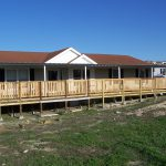 Custom Deck Steel Awning Attached Manufactured Home North San
