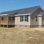 Distinct Mobile Home Front Porch Taupe Wall