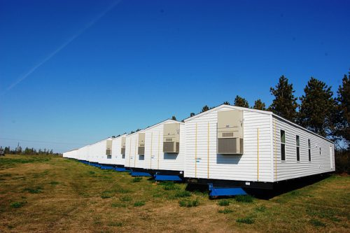 Fema Manufactured Homes Velva Staging Area Flickr