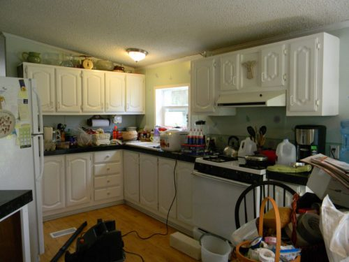 First Kitchen Remodel Mobile Home Makeover