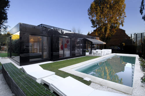 Glossy Geometric Housing Modular Home Architecture