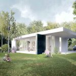 Home Ideas Modern Green Prefab Homes White