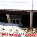 How Inspect Mobile Home Doublewide Piers Stabilizers Tie Downs