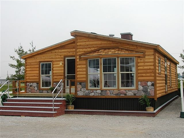 Log Cabin Double Wide Manufactured Homes Vintage Mobile