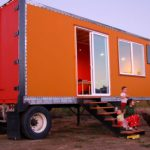 Long Semi Trailer Converted Into Cabin Amenities Inside But