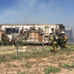Lubbock Firefighters Respond Mobile Home Fire North