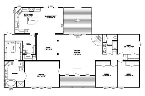 Manufactured Home Floor Plan Clayton Energy Triplewide Mod
