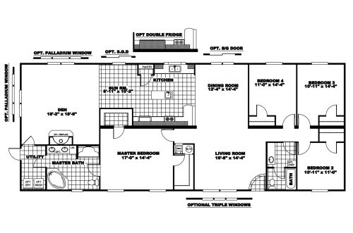 Manufactured Home Floor Plan Clayton Riverland Riv