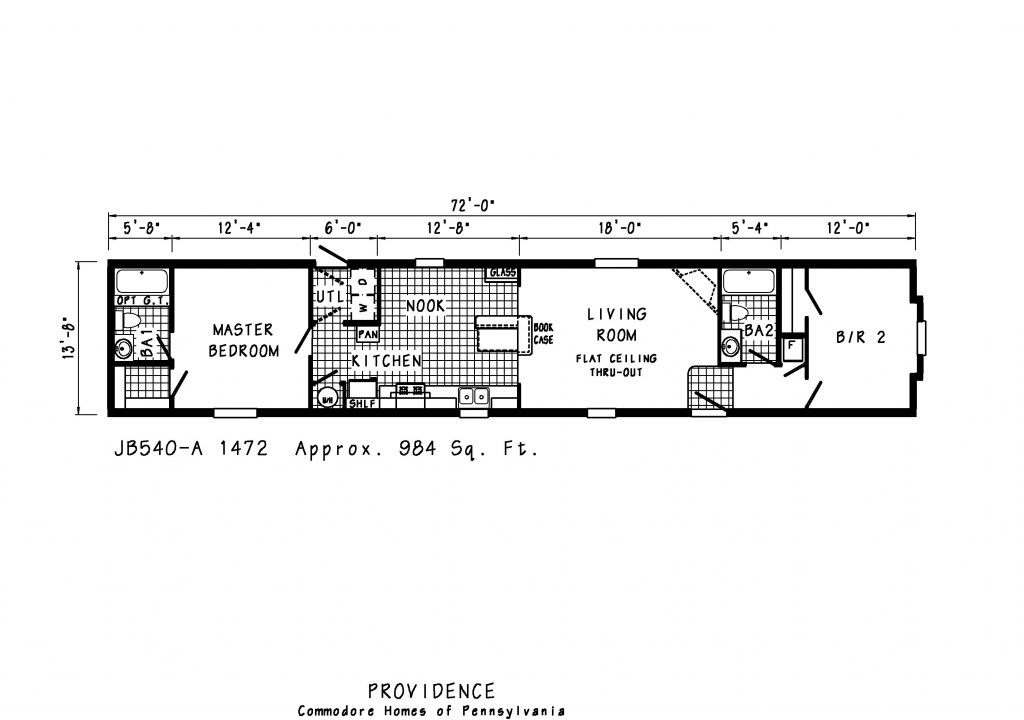 Manufactured Homes And Mobile Single Wide Floor Plans