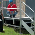 Metal Stairs Modular Access Aluminum Products Redd