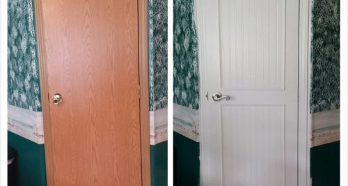 Mobile Home Interior Door Makeover September Manufactured