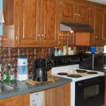 Mobile Home Kitchen Remodel Birch Cabinets