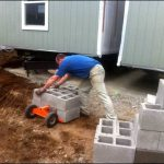 Mobile Home Leveling Using The Duraskirt Retrofit Cart Block