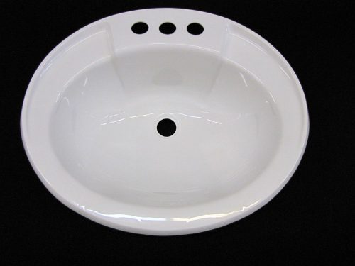 Mobile Home Marine Parts Bathroom Lav Sink White Hardware Drain