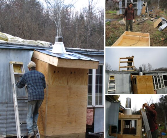 Mobile Home Woodstove Roof Project