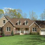 Modular Home Brick Accents And Beautiful Recessed Porch Www