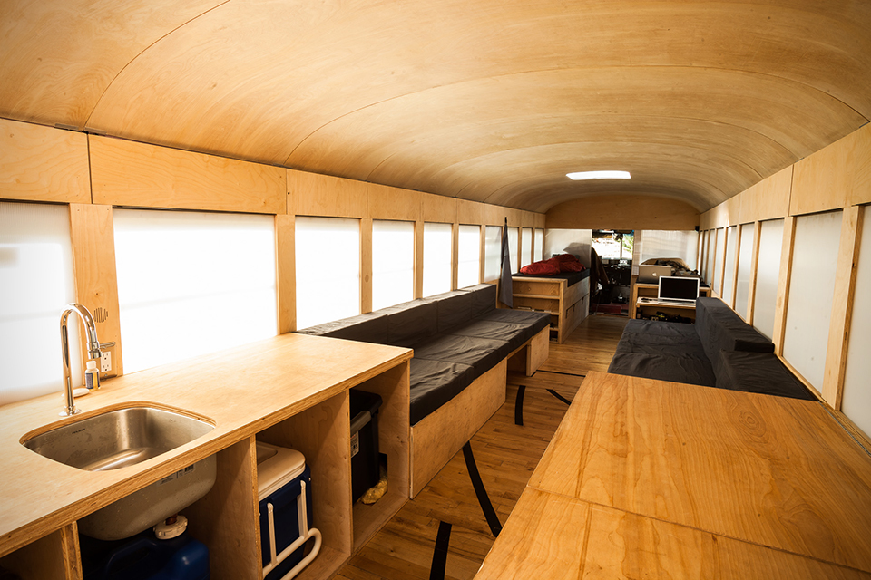 Old School Bus Into Mobile Home Travel Across The Country