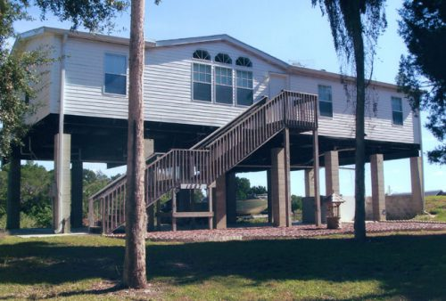 Piling Pier Stilt Foundation Home Plans Coastal Flood Plain