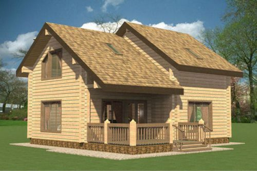Prefabricated Log House Wooden Villa Cheap Prefab