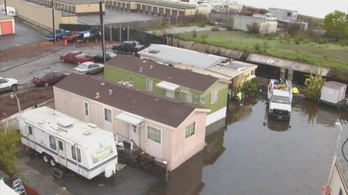 Redwood City Mobile Home Park Residents Return After Flooding
