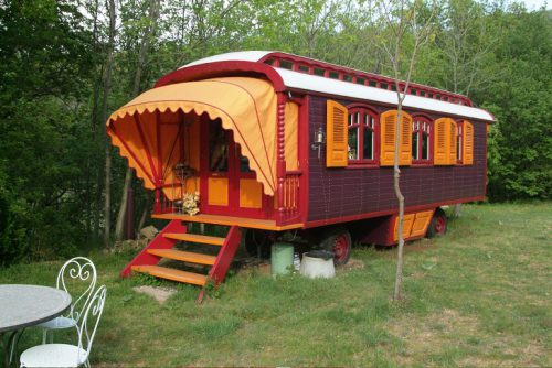 Roulottes Colorful European Style Caravans Are Place Call Home