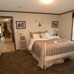 Rustic Manufactured Home Triple Housing Bedroom