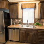 Rustic Manufactured Home Triple Housing Kitchen