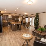 Rustic Manufactured Home Triple Housing Living