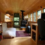 School Bus Converted Into Mobile Home