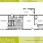 Single Wide Mobile Home Floor Plans Bedroom Cavco Homes