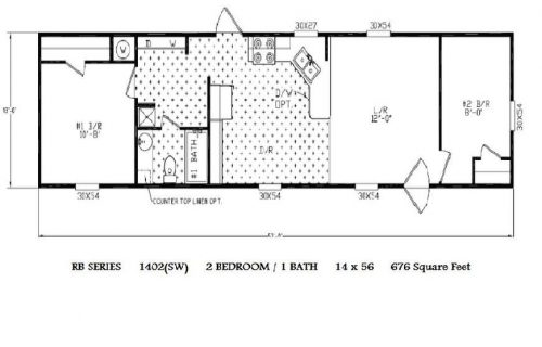 Single Wide Mobile Home Floor Plans Bedroom Homes