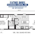 Single Wide One Bedroom Manufactured Homes