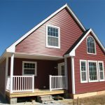 Small Manufactured Home Dark Red Wall
