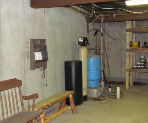Sump Pump Water Tank And Softener
