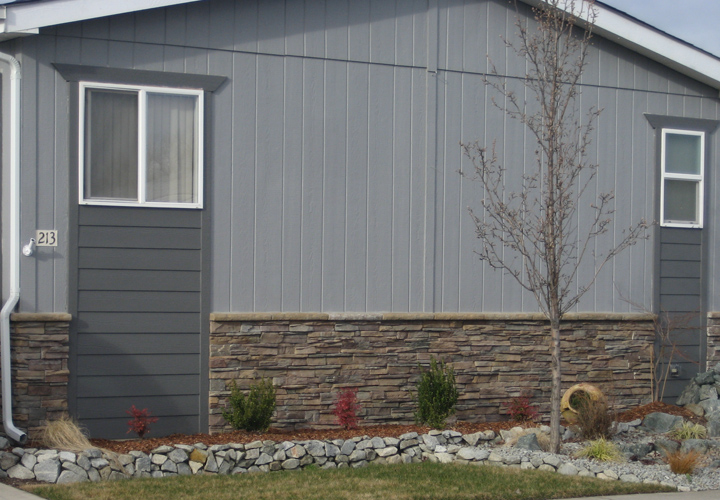 This Example Mobile Home Skirting Faux Stone Homes Ideas