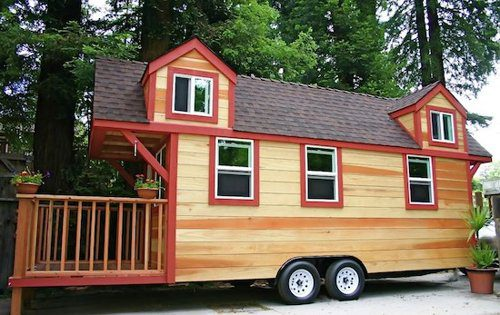 Tiny House Trailer Made Redwood Custom Fold Deck