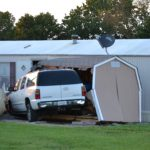 Vehicle Crashes Into Shed And Mobile Home Branson West