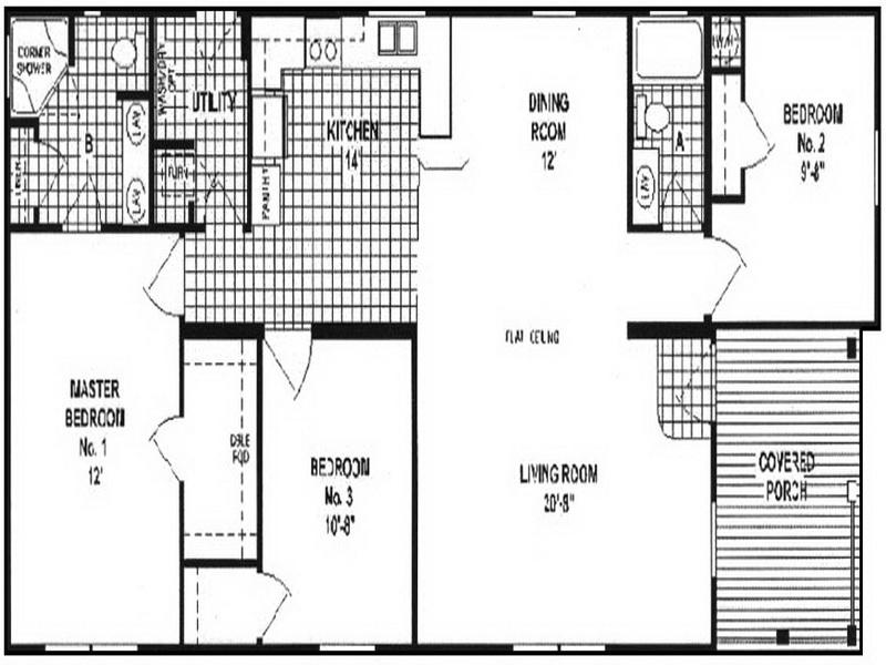 Wide Manufactured Homes Floor Plans