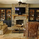 Awesome Built Cabinets Around Fireplace Design Ideas