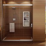 Bathroom Transparent Walk Shower Designs Ideas Subway
