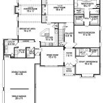 Bedroom Bath House Plan Plans Floor