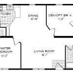 Bedroom Bath Mobile Home Floor Plans Ehouse Plan Single Wide