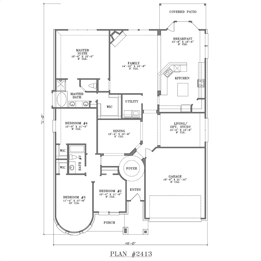 Bedroom House Plans One Story