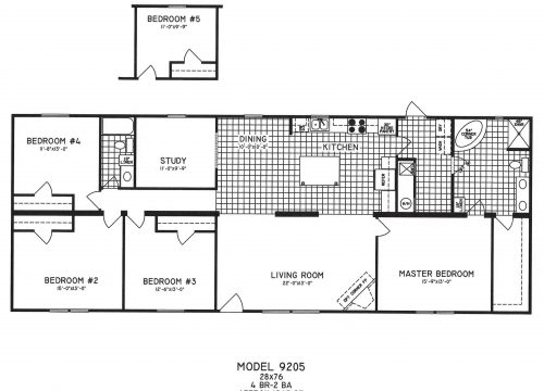 Bedroom Modular Home Plans Simple Floor Double Wide Mobile
