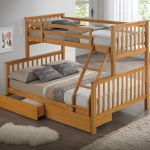 Beech Triple Wooden Bunk Bed Childrens